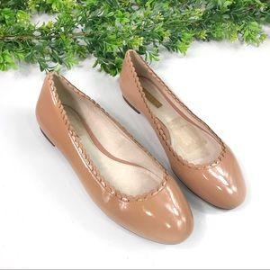 Louise et Cie Tan Patent Leather Ballet Flats 7.5W